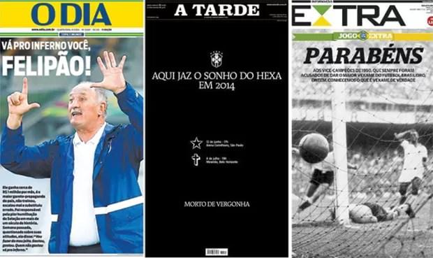 Capas O Dia, A Tarde e Extra  (Foto: Reprodução)