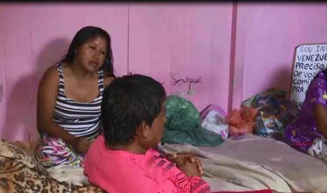 Indígenas estão instalados em pensão de Rio Branco, no Acre — Foto: Reprodução/Rede Amazônica Acre