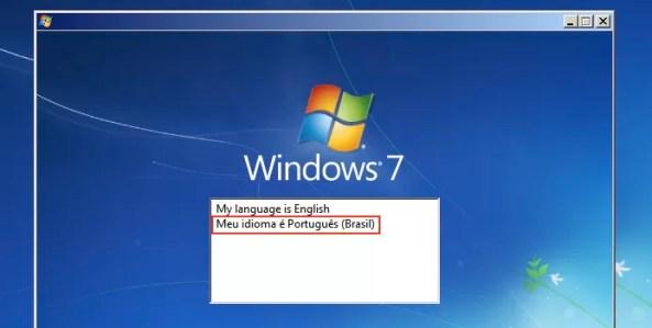 Escolhendo o idioma a ser usado pelo instalador (Foto: Reprodução/Edivaldo Brito)