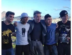 Neymar posta foto com Eike Batista (Foto: Reprodução / Twitter)