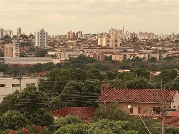 Vista do bairro Eldorado, na região norte de Rio Preto  (Foto: Reprodução / TV TEM)