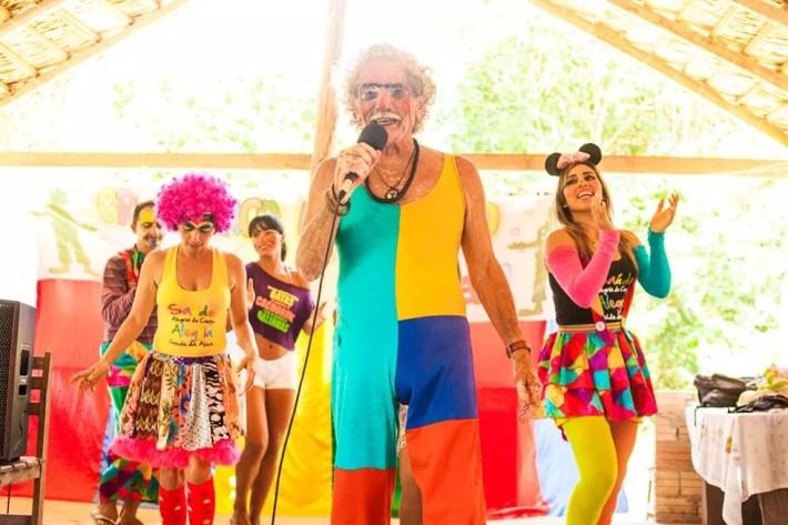 Magnólio fazia a diversão no Gran Circo Mocorongo do Saúde e Alegria (Foto: Rerodução/Facebook)