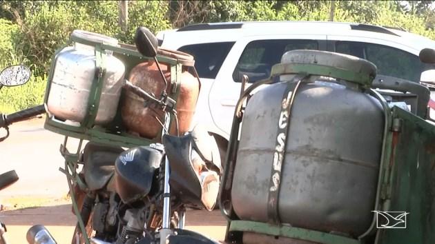 Preço do botijão de gás pode variar entre 50 e 70 reais em Imperatriz (MA) (Foto: Reprodução/TV Mirante)