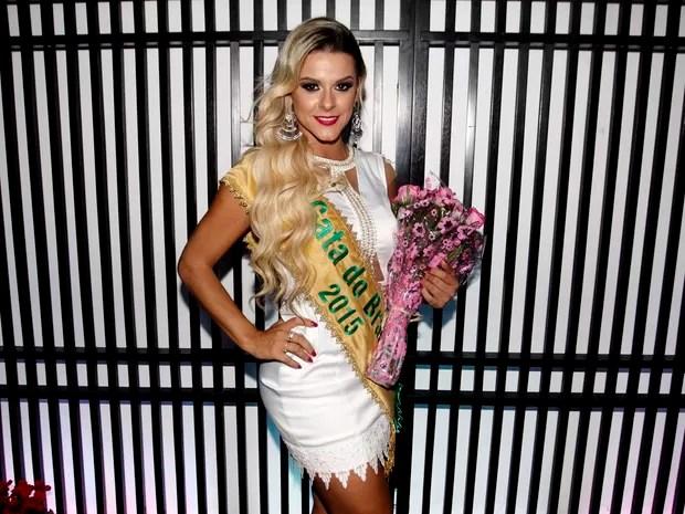 Fran, do Rio Grande do Sul, na final do concurso Gata do Brasil em São Paulo (Foto: Celso Tavares)