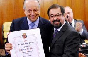 Kalil e Marco Aurélio Cunha vão se unir contra Juvenal Juvêncio na eleição (Foto: Site Oficial/saopaulofc.net)