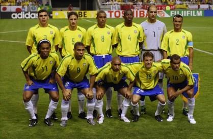 Seleção brasileira foi campeã do mundo em 2002 — Foto: Getty