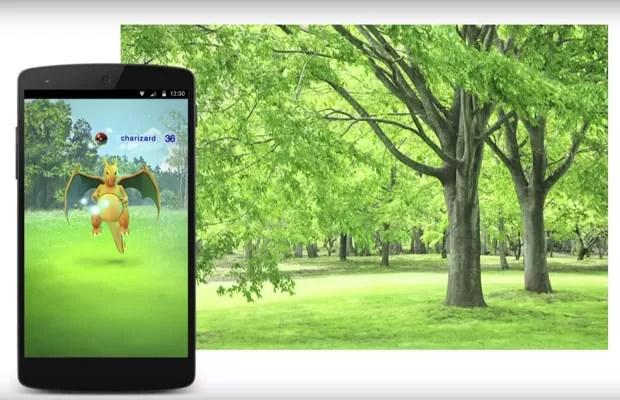 'Pokémon Go', para celulares iOS e Android, levará pokémons para batalhas no 'mundo real'. (Foto: Reprodução/YouTube)