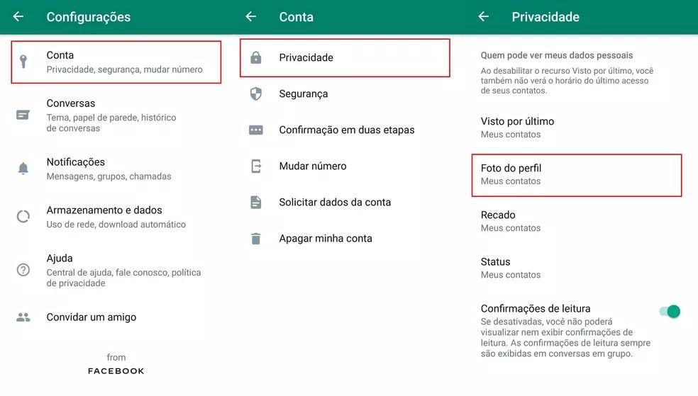 Como limitar quem pode ver sua foto no WhatsApp — Foto: Divulgação/WhatsApp