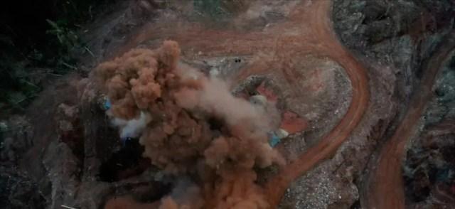 Operação em Aripuanã: policiais explodiram estrutura montada por garimpeiros — Foto: TV Centro América/Reprodução