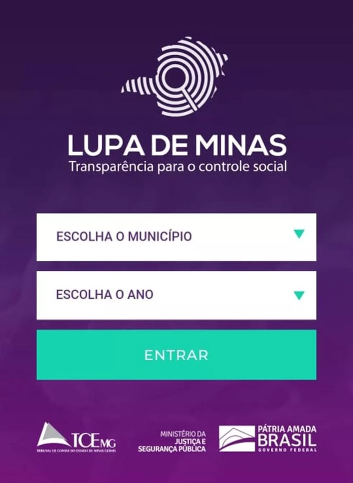 Tela do aplicativo 'Lupa de Minas' — Foto: Reprodução