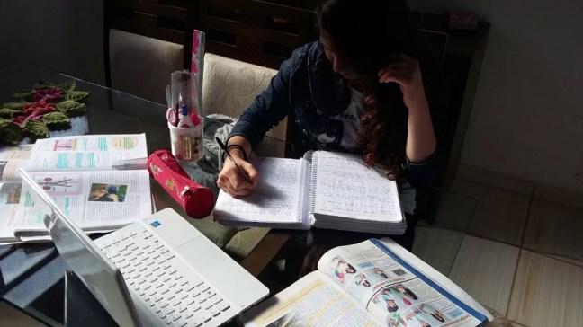 Adolescente estuda em casa no Rio Grande do Sul; STF deve decidir neste mês sobre direito ao homeschooling (Foto: Arquivo pessoal)