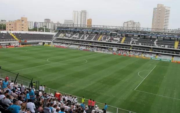 Vila Belmiro Santos x Palmeiras (Foto: Marcelo Hazan / Globoesporte.com)