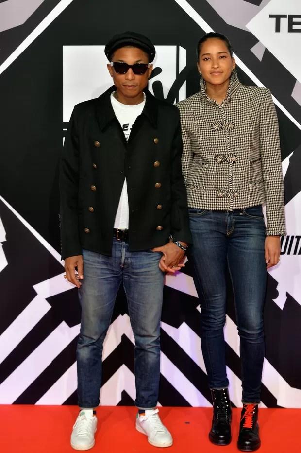 Pharrell Williams e Helen Lasichanh (Foto: Getty Images)