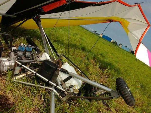 Empresário sofreu acidente com ultraleve que comprou há pouco tempo (Foto: Monize Poiani/TV TEM)