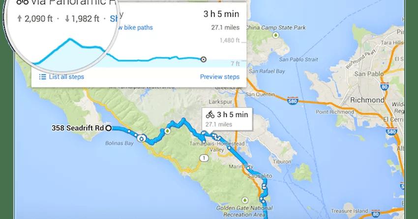 Google Maps Inclui Elevação E Altitude Em Rota De