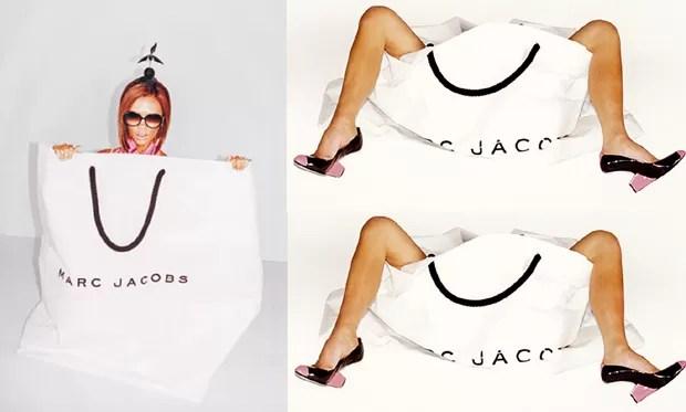 Victoria Beckham bna campanha de Marc Jacobs, em 2008 (Foto: Reprodução)