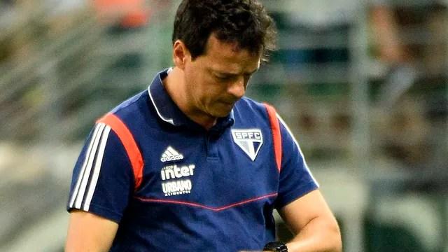 Fernando Diniz no clássico contra o Palmeiras