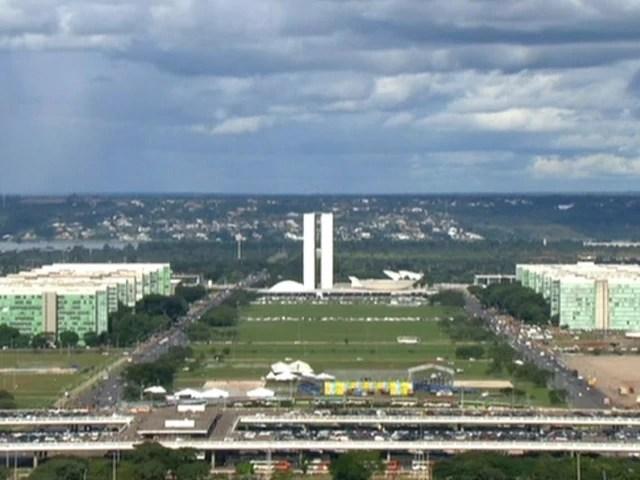 Esplanada dos Ministérios (Foto: Reprodução Globo News)