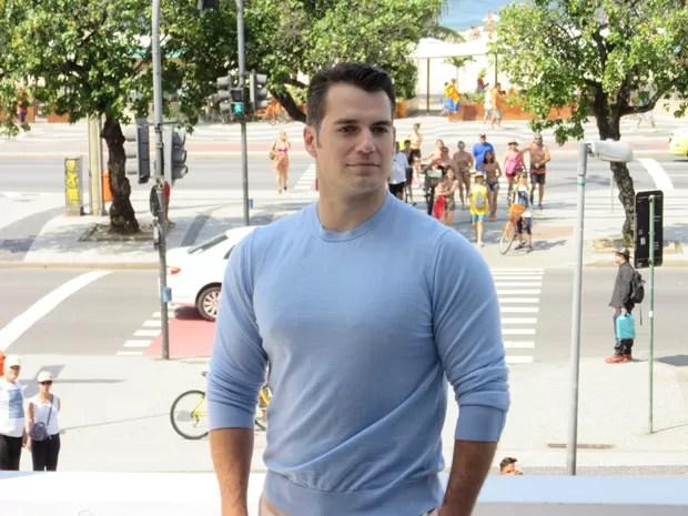 Henry Cavill, que vive o Superman nos cinemas, lança em Copacabana, no Rio, o filme de ação 'O agente da U.N.C.L.E.'
