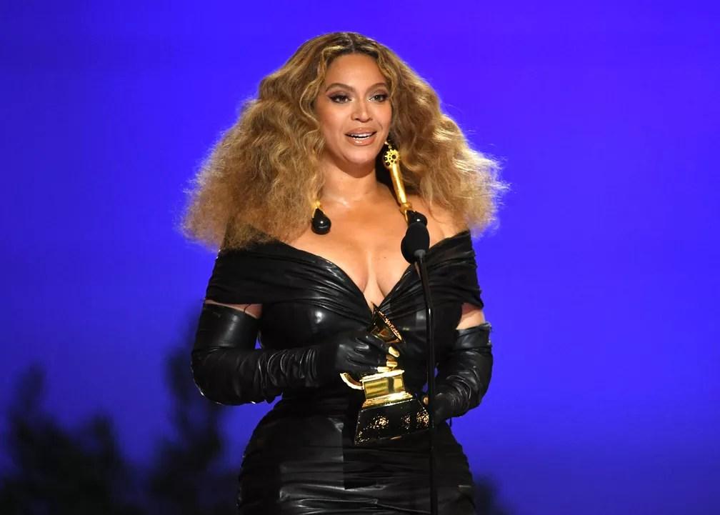 Beyoncé quebra recorde e vira a mulher com mais Grammys da história  — Foto: Kevin Winter / Getty Images via AFP