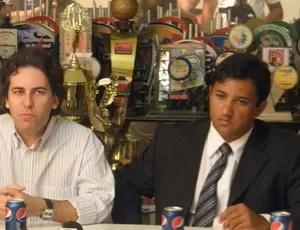 fábio azevedo em entrevista coletiva com valber maxwell (Foto: Silas Batista)