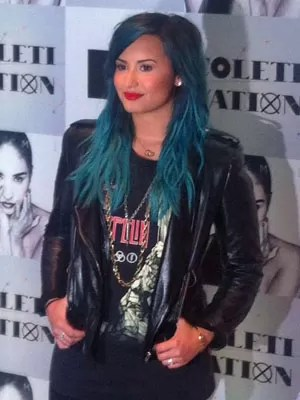 Demi Lovato em São Paulo (Foto: Rodrigo Ortega/G1)