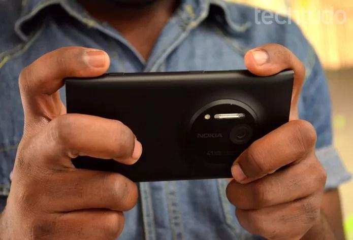 Sucessor do Lumia 1020 pode contar com tecnologias de fotográficas da Canon (Foto: Luciana Maline/TechTudo)