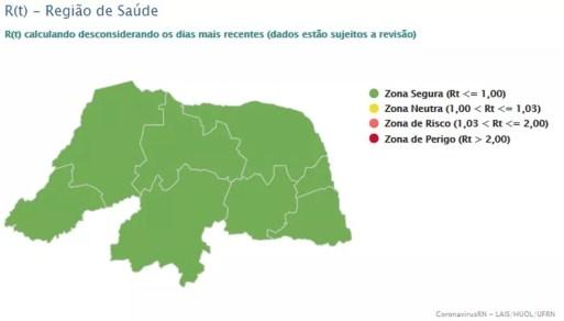 Regiões estão em zona segura, segundo o LAIS — Foto: LAIS