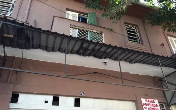 Pousada onde adolescente foi torturado (Foto: Glauco Araújo/G1)