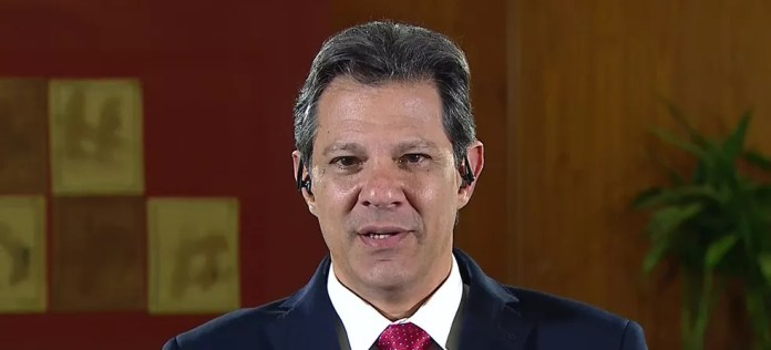 Haddad dá entrevista ao JN — Foto: Reprodução/TV Globo