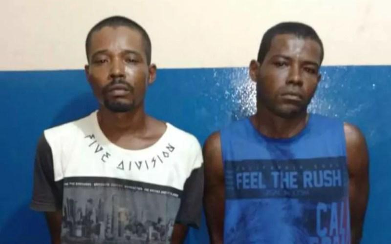 Irmãos presos suspeitos de tentarem estuprar adolescentes na Bahia (Foto: Site Blog do Braga)