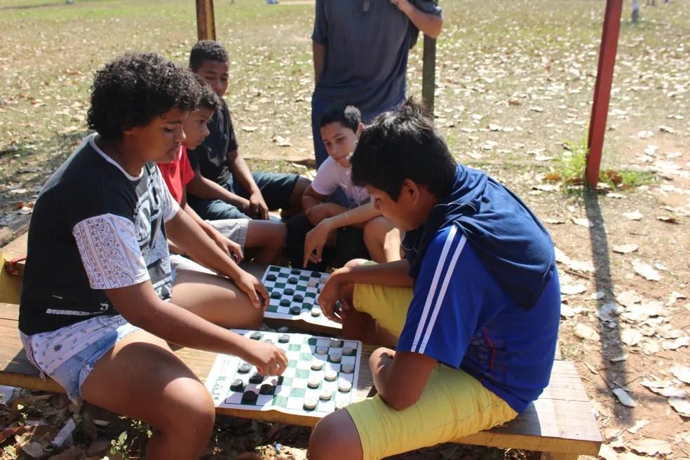 Atividades tiveram a aprovação dos estudantes (Foto: Júnior Freitas/G1)