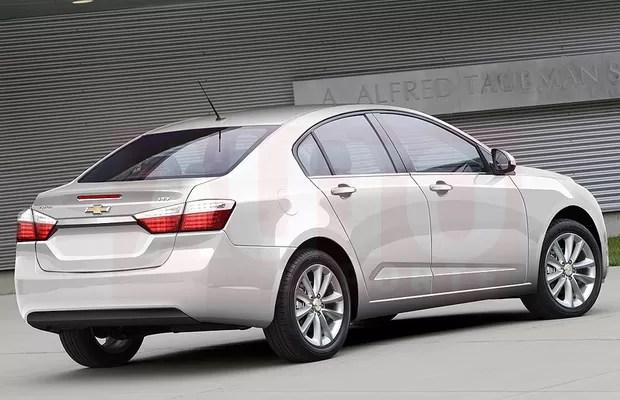 Futuro Chevrolet Cruze também ficará maior, como mostra a projeção (Foto: Renato Aspromonte/Autoesporte)