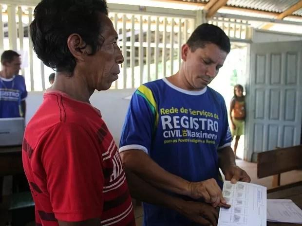 Indígenas foram registrados em ação em São Gabriel da Cachoeira (Foto: Adneison Severiano/G1 AM)
