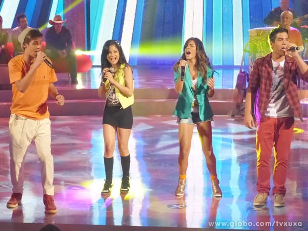 Quarteto do KidX arrasa cantando no TV Xuxa (Foto: TV Xuxa / TV Globo)