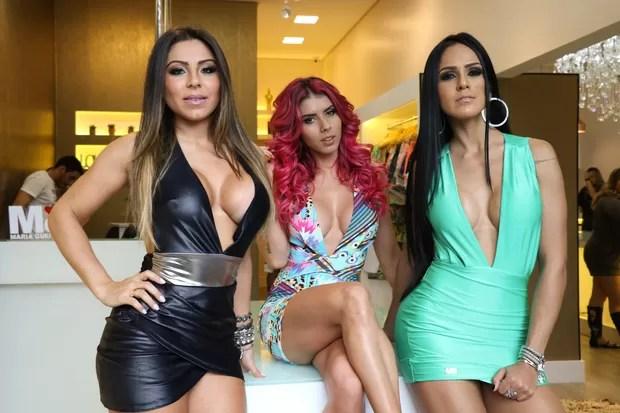 Andressa Ferreira posa com Thais Bianca e Dai Macedo (Foto: João Barbosa / Ag. Fio Condutor)