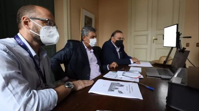 Prefeito de Porto Alegre participa de reunião com ministro da saúde sobre vacina  — Foto: Reprodução/Prefeitura de Porto Alegre