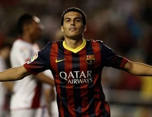 Pedro Rodriguez barcelona gol Rayo Valecano (Foto: Agência Reuters)