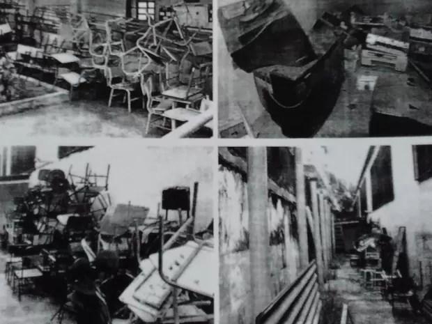 Imagens mostram paredes mofadas em unidades da Faetec (Foto: Reprodução)