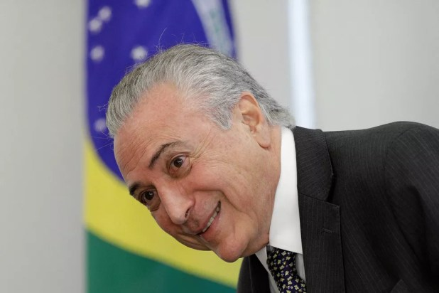 O presidente Michel Temer sorri durante reunião, nesta quinta, com empresários no Palácio do Planalto (Foto: Ueslei Marcelino/Reuters)