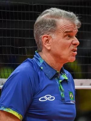 Bernardinho Brasil x EUA (Foto: VANDERLEI ALMEIDA / AFP)