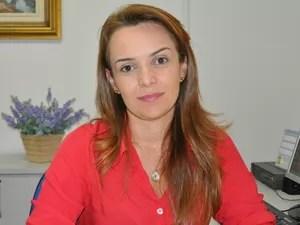 Delegada Daniela Maidel, que atua em defesa da mulher em Várzea Grande (Foto: Divulgação/PJC)