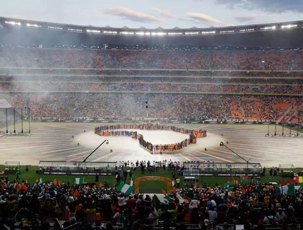 Cerimonia Abertura Copa Africana de Nações, Nigéria x Burkina Faso (Foto: AP)