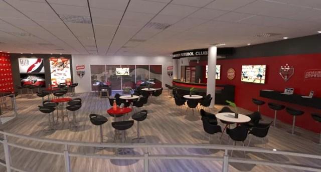 Lounge bar do estádio do Morumbi terá internet fixa e wi-fi para facilitar a vida dos jornalistas (Foto: GloboEsporte.com)