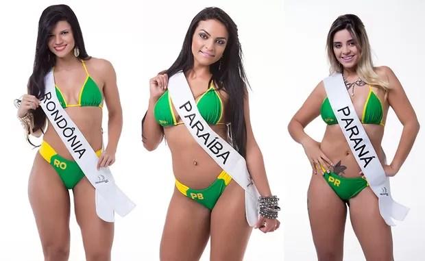 Jennifer Camacho, Miss Bumbum Rondônia / Debora Dantas, Miss Bumbum Paraíba / Thamara Amancio, Miss Bumbum Paraná (Foto: MBB / Divulgação)