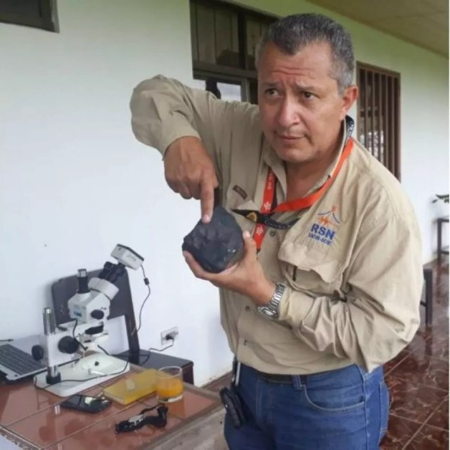 As informações científicas do meteorito são inestimáveis, diz Gerardo Soto — Foto: Escuela Centroamericana de Geología/Via BBC