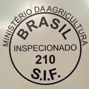 Selo do S.I.F, que garante qualidade do mel (Foto: Mariana Palma/G1)