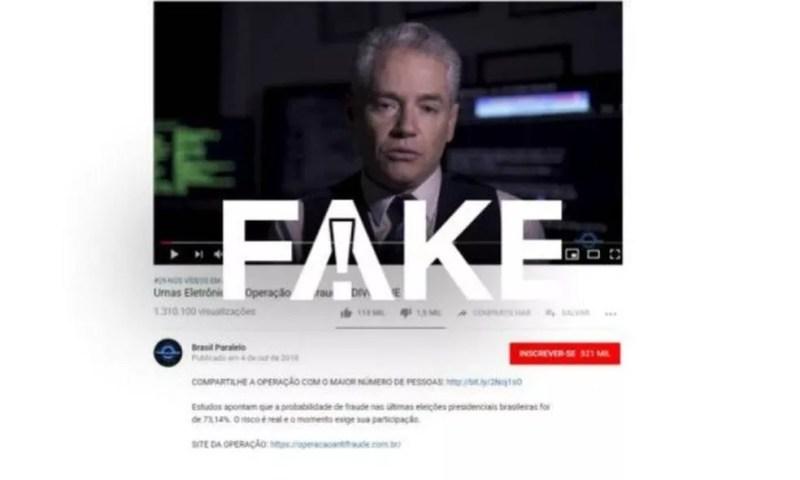 Vídeo tem informações falsas — Foto: Reprodução