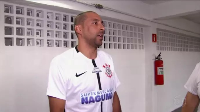 Serginho, líbero do Corinthians (Foto: Reprodução TV Globo)