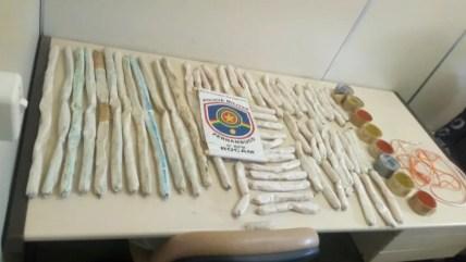 Bananas de dinamite foram encontradas pela Polícia Militar de Pernambuco (Foto: PM/Divulgação)